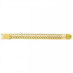 Bracelet acier PVD JAUNE...