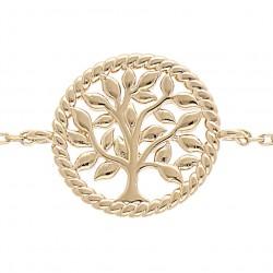 Bracelet plaqué or ARBRE DE...
