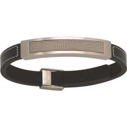 Bracelet acier ET CUIR 19-22CM