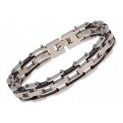 Bracelet acier NOIR 21CM