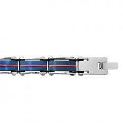 Bracelet acier PVD noir et...