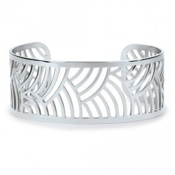 Bracelet acier jonc motifs...