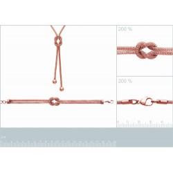 Bracelet acier PVD ROSE NOEUD